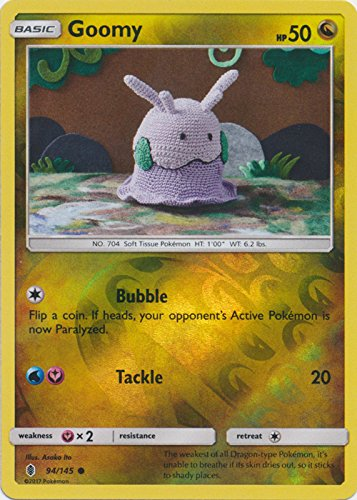 Goomy - 94/145 - Common - Reverse Holo - Sun & Moon: Guardians Rising (Card Goomy Pokemon)