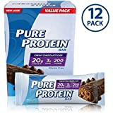 Pure Protein--High Protein Bar Chewy Chocolate Chip Multipack--Protein Bars--20 Grams of Protein per Bar--Gluten Free--12-1.76-Ounce Bars