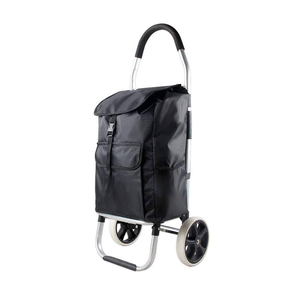 ショッピングカート大容量スーパー軽量ハンディホイールショッピング食料品トロリーバッグケース(メインコンパートメント、ホイール付き) B07NNGG8CX B