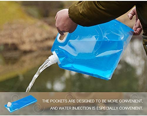 Hiking Folding Car Water Carrier Tank for Outdoor Sports BPA Free Portable Water Storage Bag MOAMUN 3PCS Collapsible Plastic Water Container 1.32//2.64 Gallons Travel BBQ Camping Picnic