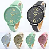 Womens Watches,COOKI Unique Analog Fashion Lady Watches Female watches on Sale Casual Wrist Watches for Women Comfortable Leather Watch