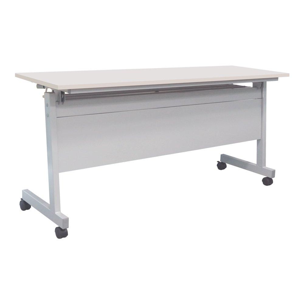 カグクロ スタッキングテーブル 幕板付き 長机 W1800×D450×H700 ホワイト 会議テーブル TF-1845-P-WH B0087VCXS6 ホワイト ホワイト