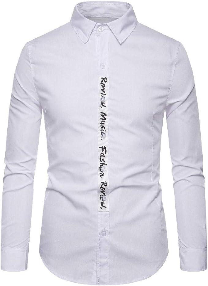 SHOWNO Mens Casual Button Up Printed Long Sleeve Fall Winter Fleece Dress Shirt