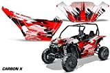 AMRRACING Arctic Cat Wildcat Sport Limited Full Custom UTV Graphics Decal Kit Carbon X Red