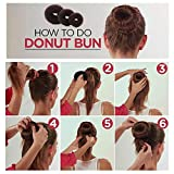 iFlyMars 3 Pieces Hair Donut Bun Makers, 2 Pieces