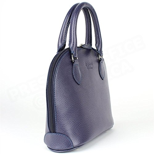 Mini sac à main New-york cuir Violet Beaubourg