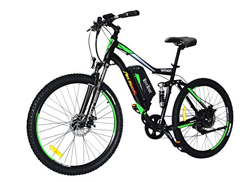 Addmotor HITHOT Electric Bicycle 48V 500W Motor 10.4 AH Samsung Lithium Battery Electric Bike With Fork Suspension/Spring Shock Absorber Hithot H1 Mountain E-bikes 2017 For Adults (Green)
