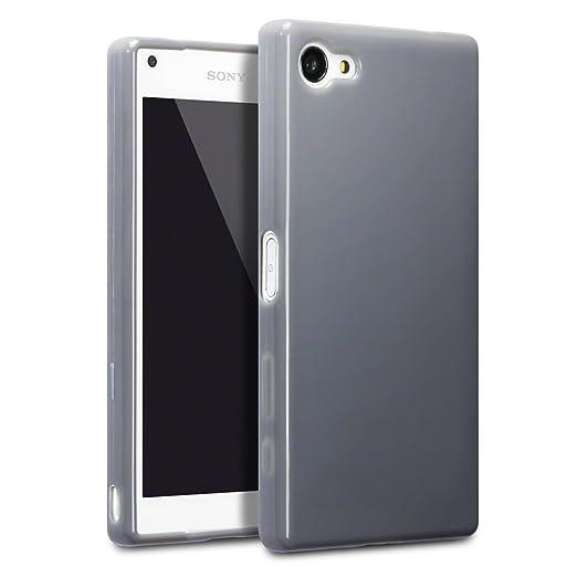 29 opinioni per Terrapin TPU Gel Custodia per Sony Xperia Z5 Compact Skin, Colore: Grigio