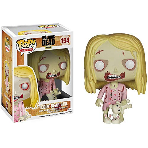 Funko Teddy Bear Girl: Walking Dead x POP! TV Vinyl Figure & 1 POP! Compatible PET Plastic Graphical Protector Bundle [#154 / 04244 - B]]()