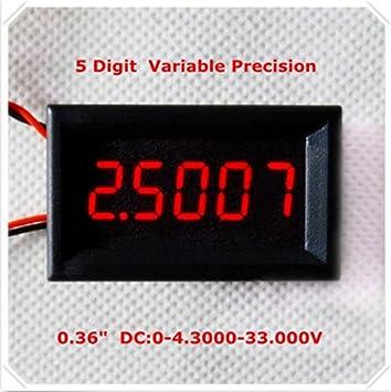 Digital Voltmeter 5-digits bit High Precision Voltage Meter KUKALE DC 0-33.000V 0-33V