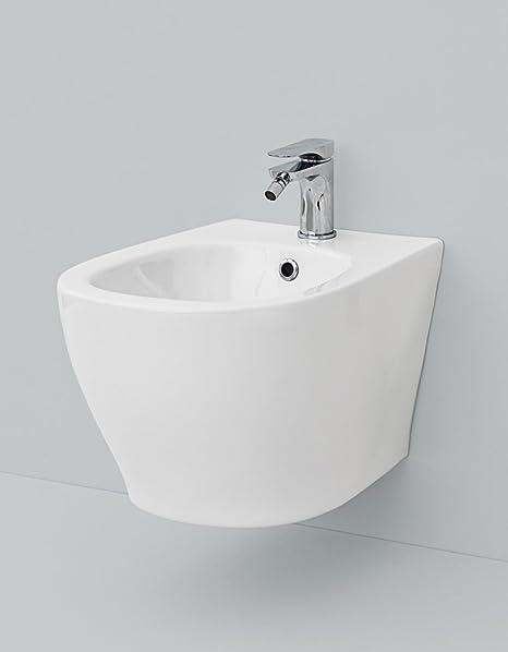 Bidet Salle De Bain Suspendu Design En Ceramique Blanche 36 X 52 Cm Amazon Fr Bricolage