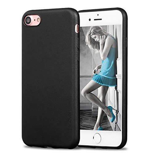 X-level iPhone 7 Case, iPhone 8 Case,Ultra Thin Soft TPU Back Cover Phone Case for Women Matte Finish Coating Grip Cover Compatible with iPhone 7 (2016)/iPhone 8 (2017) - 4.7 Black