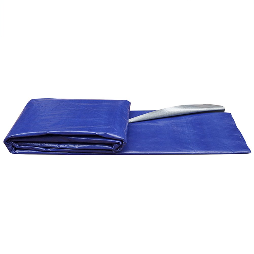 AJZXHE Plane, regendichte Sonnenschutzplane Auto Plane Fracht staubdicht Winddicht Hochtemperatur-Anti-Aging Zelt Tuch, blau + Silber -Plane