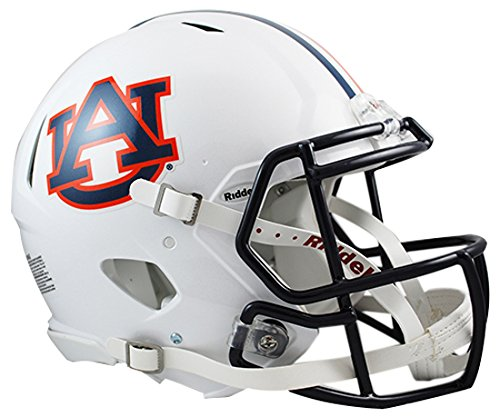 Riddell Sports NCAA Auburn Tigers Speed Authentic Helmet, White -