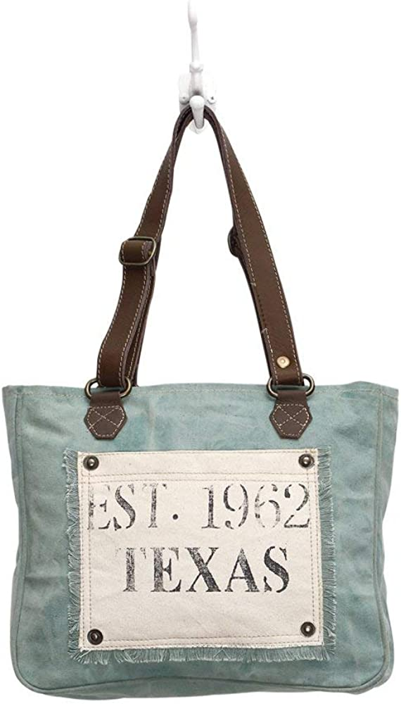 Amazon Com Myra Bag Turquoise Texas Upcycled Canvas Hand Bag S 0885 Shoes Want to get leather and hairon bag, upcycled handbag & vintage canvas bag? myra bag turquoise texas upcycled canvas hand bag s 0885