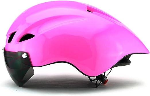 Casco Bicicleta, Hombre Ultraligero Mujer Casco Ciclismo con ...