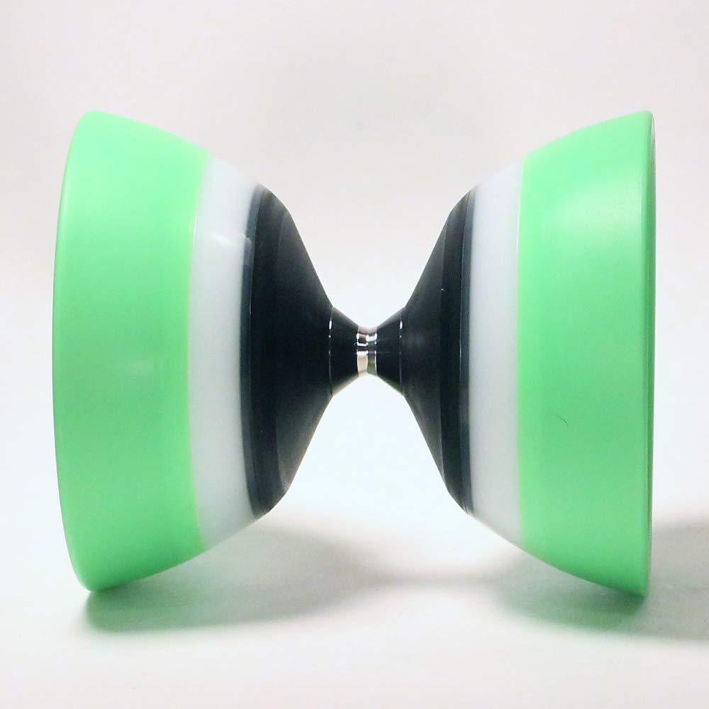 Sundia Evo 5 Diabolo - 5 Bearing - Green -Free Sticks and String by Sundia (Image #3)
