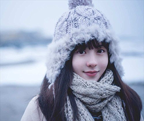 2be7de5cc8dce Vegang Women Winter Real Rex Rabbit Fur Knitted Hat Ear Protector Cap  Outdoor (Beige)
