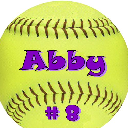 (Personalized Round Softball Bag Tag)