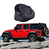 omotor Gas Cap Fuel Door Gas Tank Cover for 2018 Jeep Wrangler JL JLU 2-Door 4-Door