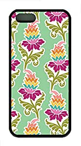 iPhone 5s Case, iPhone 5s Cases - Nice Flowers Pattern Custom Design iPhone 5s Case Cover - Polycarbonate¨CBlack