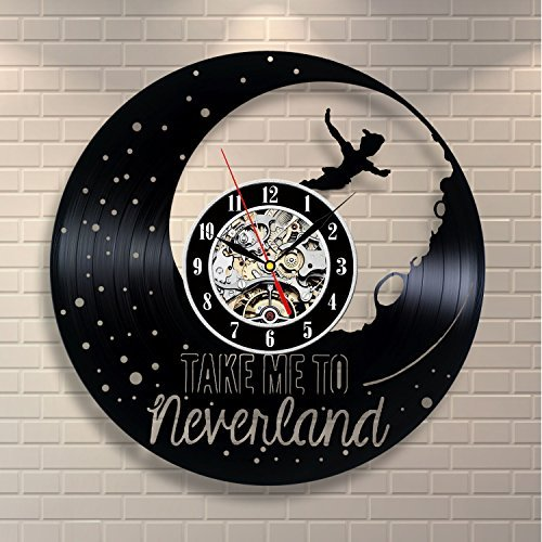 Peter Pan Decor Vinyl Record Clock Art Home Design