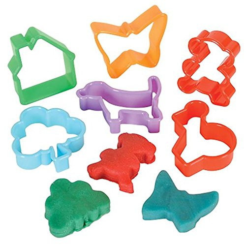 Kicko Kids Play Dough and Cutter Set - 4 Pieces Multi-Colored Modeling Clays and 12 Pieces Animal and Shapes Maker with Plastic Carrying Case - Educational DIY Art Craft, Toddler Tools Playset