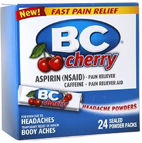 BC Headache Powders, Cherry 24 ea (Pack of 2) by BC