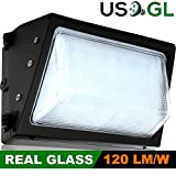 60W LED Wall Pack (400-500 Watt HPS/HID Replacement) 5000K (Daylight) 7232 Lumens, Commercial Grade, Glass Lens, Outdoor Lighting Fixture, UL Listed DLC Qualified