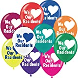 We Love Our Residents Balloons, 17, Package of 25