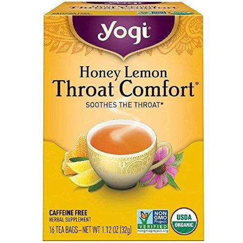 Yogi Tea Throat Comfort, Honey Lemon 16 ea -