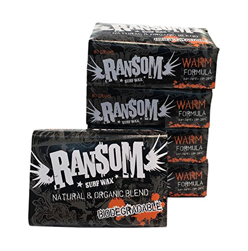 Ransom Warm Surf Wax 5 Pack, White by Ransom
