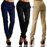 Women Pants, Casual Trousers Slim Fit Super Stretch Comfy Jeggings Skinny Pants with Pockets Jinjiums (Black, XXXXL)