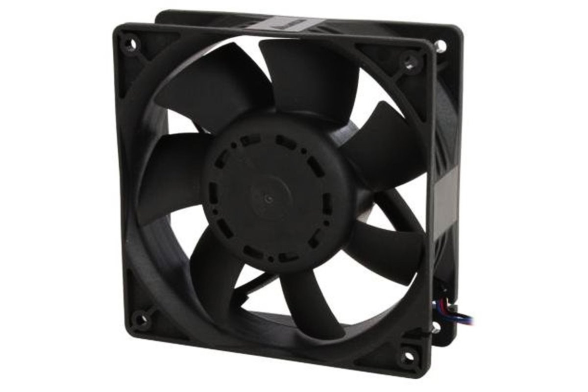 Delta Electronics AFB1212GHE-CF00 120x120x 38mm Cooling Fan, 240.96 CFM, 5200 RPM, 62 dBA, 2.45A (max 3.24A), 27.48 air pre., 3+4-pin power & TAC connector by Delta (Image #2)