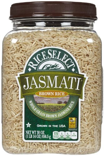 Rice Select Jasmati Brown Rice, 30 Ounce - 4 per case. by RiceSelect