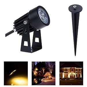 Mini 3W Warm White LED IP65 Outdoor Waterproof Landscape Lights Garden Lawn Lamps Art Decor Torch Spotlights GO-L02-WW