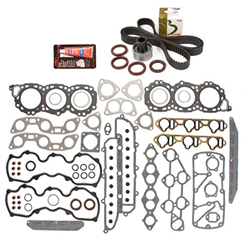 Evergreen HSTBK3023 Head Gasket Set Timing Belt Kit Fits 86-93 Infiniti Nissan V6 3.0 SOHC 12V ()