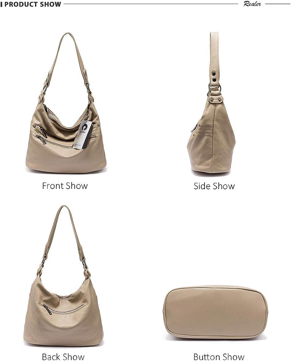 LUKIFU Messenger-Bags Schultertaschen Rucksackumhängetasche Damenhandtasche Damen Leder Umhängetasche Damen Khaki
