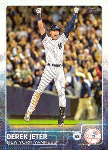 2015 Topps #1 Derek Jeter Baseball Card - Game Winning Hit in Last At-Bat at Yankee Stadium