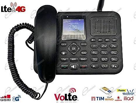 Teléfono móvil 4G LTE para SIM con Router Hotspot WiFi, conexión Bluetooth, Volte, Cornetta, Teclas Grandes y Llamadas rápidas, Fijo de Mesa para casa, Oficina y Personas Mayores, Desbloqueado: Amazon.es: Electrónica