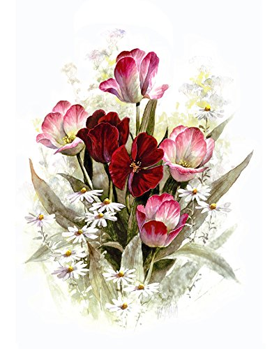 Amazon Com Pink Red And White Flowers Flower Arrangement