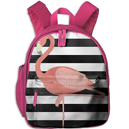Shy Flamingo Lightweight Backpack School Bag Travel Lunch Bags For School Opening With Side Pockets