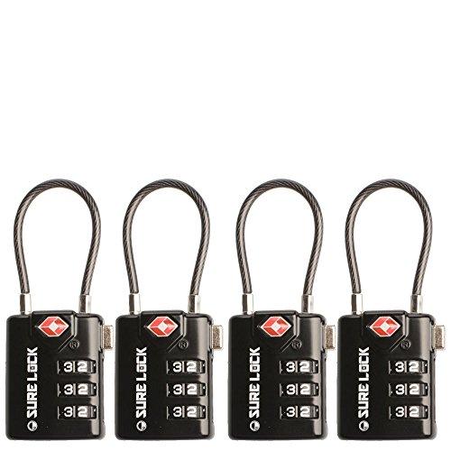 TSA Compatible Travel Luggage Locks, Inspection Indicator, Easy Read Dials- 1, 2...