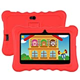 Xgody T702 7 Inch Android Kids Tablet 1GB 16GB Storage Quad Core Android 8.1 with WiFi Dual Camera IPS Safety Eye Protection Screen and Parents Control Mode Kid-Proof Case (Red)