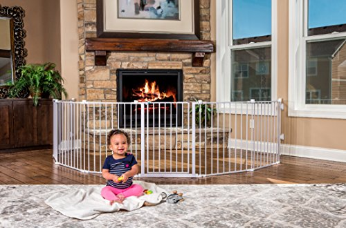 Regalo 192-Inch Super Wide Adjustable Baby Gate and Play Yard 4-In-1 Bonus Kit
