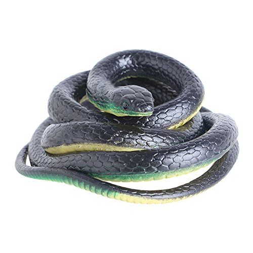 Oxeanus Realistic Plastic Tricky Toy Fake Snakes Garden Props Joke Prank Halloween Horror Toys for Adults PP Plastic Snake New -