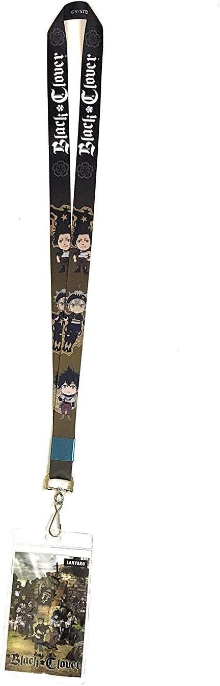 Black Clover Anime SD Chibi Asta Yuno /& Yami Lanyard with ID Badge Holder