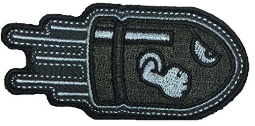 Bomb Squad Costume (Patch Squad Men's Angry Flying Bullet Subdued Grey Morale Tactical Patch)