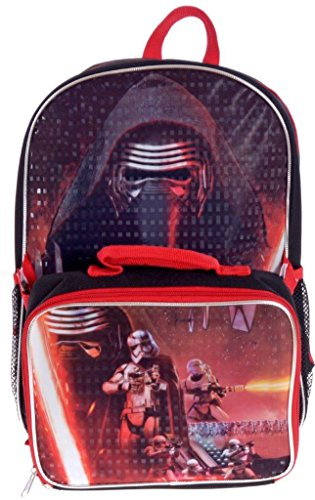 Star Wars Kylo Ren Deluxe Exclusive Kids School Backpack and Lunch Bag Set 15