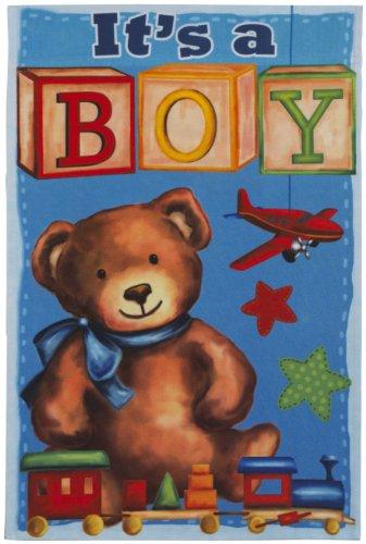 It's a Boy Lawn Flag - Blue Teddy Bear - Ganz Garden Acce...